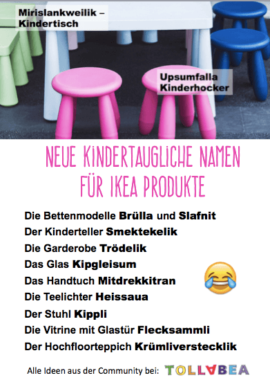 kinderteller smektekelik neue kindertaugliche namen f r ikea produkte. Black Bedroom Furniture Sets. Home Design Ideas