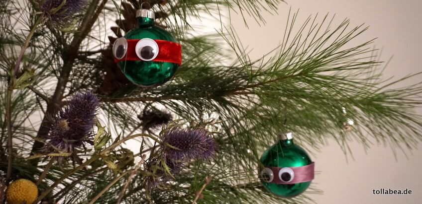 Ninja Turtle Christbaumkugeln – DIY